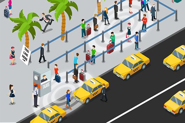 San Diego internationale lufthavns brug af sensorer, der detekterer mobile enheder, har hjulpet med at forudse flaskehalse ved deres taxiholdeplads, og gjort det muligt for lufthavnen at tilbyde taxier, når behovet er der.