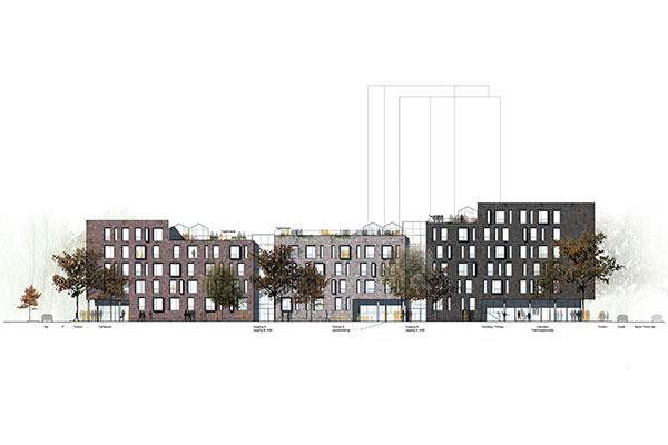 Dansk Boligbyg a/s er i samarbejde med Arkitektfirmaet Kjaer & Richter, Ingeniørfirmaet Søren Jensen og Opland Landskabsarkitekter netop udpeget som vinder af konkurrencen om opførelse af Godsbanekollegiet i Aarhus.