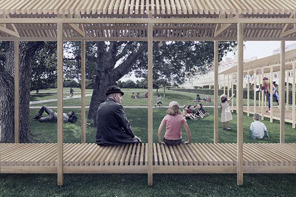 For tredje gang beriges den københavnske sommer med en arkitekttegnet træpavillon i Kongens Have.