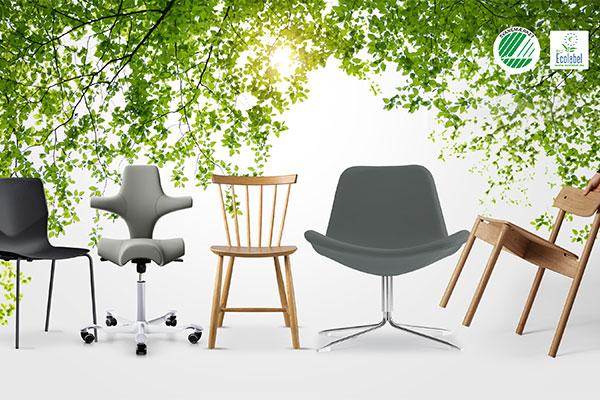 Udbuddet af møbler, der er certificeret med Svanemærket eller EU-Blomsten, er stærkt stigende.
