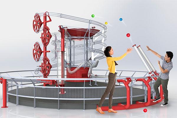 """Selv om Universe har lukket ned for vinteren, er der stor aktivitet. Der er nemlig fuld gang i byggeriet af en række nye forlystelser – herunder """"Ball Factory"""", der bliver et 500 m2 stort mekka for legebørn i alle aldre."""