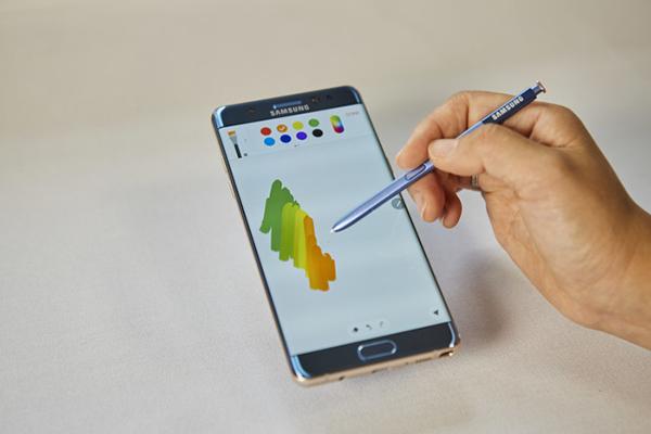 Nu lancerer Samsung Galaxy Note7, som kombinerer S Pennens avancerede funktioner med nye sikkerhedsløsninger, som hjælper brugeren til en mere effektiv hverdag.