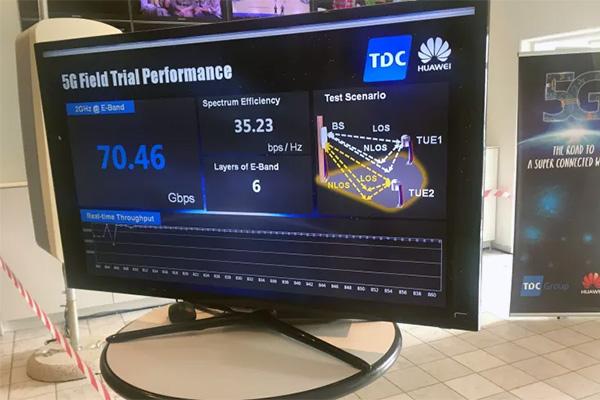 Danmarkspremiere: TDC Group og netværksleverandøren Huawei har kigget ind i fremtiden og som de første i landet testet ultrahurtigt 5G.